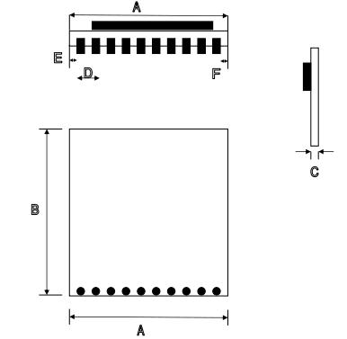 cc1101 pa无线模块 433m无线收发模组