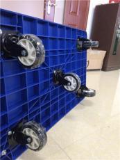 东莞超大号五轮静音塑胶板手推车扶手可折叠