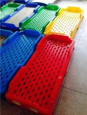 幼儿注塑床 成都幼儿园全塑料床 儿童午休床