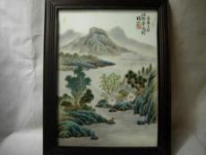 汪野亭瓷板画的市场分析 拍卖纪录