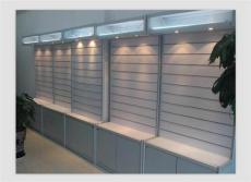 广西君诚玻璃展示柜钛合金展柜 精品货架